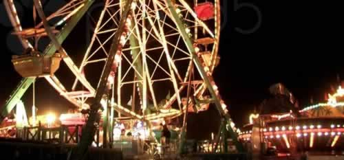 East Texas State Fair at night