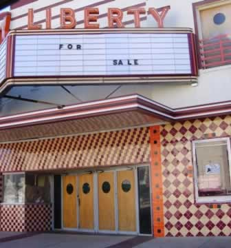 The Liberty Theater in downtown Tyler Texas ... prior to restoration and re-use, and re-opening in 2011 as Liberty Hall