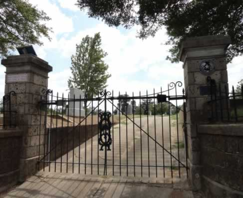 Historic Oakwood Cemetery, near downtown Tyler Texas ... entrance