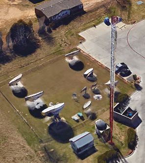 Present-day image of the old KLTV tower site on E. Erwin Street in Tyler