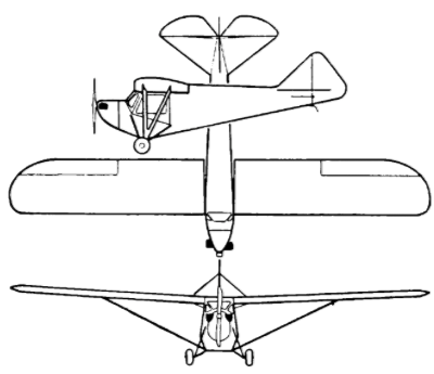Drawing of a typical Orin Welch monoplane