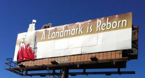 A Landmark Is Reborn ... billboard on Loop 323 in Tyler, Texas