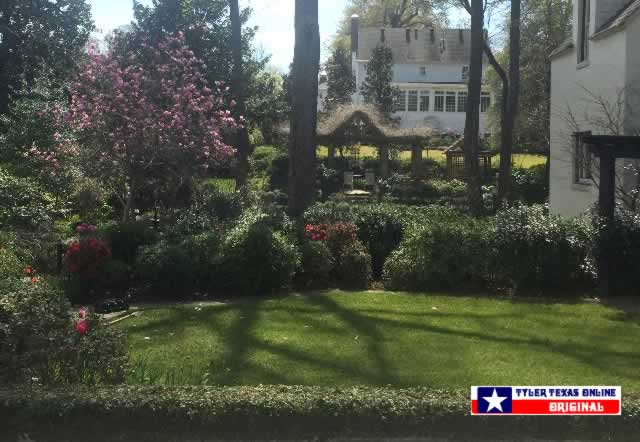 Photo of the Pyron Home along the Tyler Texas Azalea Trails on March 6, 2016