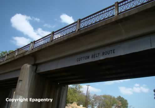 Cotton Belt Route overpass on Front Street, Tyler, Texas