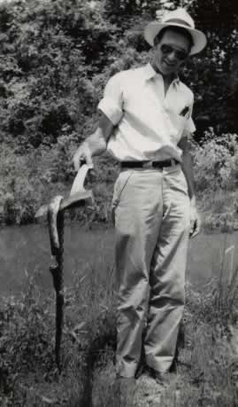 "Doyle's explantion of this photo ... ""Pretty common occurrence when surveying in South Arkansas during the 1950s"""