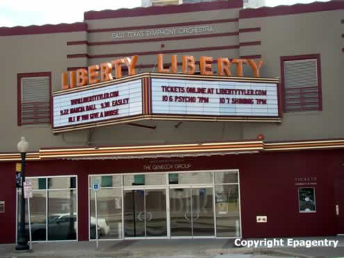Liberty Hall ... after restoration, September, 2011, downtown Tyler, Texas