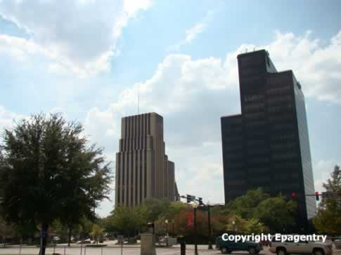 Downtown Tyler Texas skyline