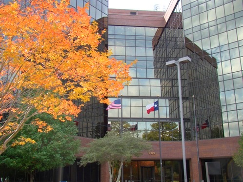 Office building and Fall foliage in Tyler Texas on Loop 323