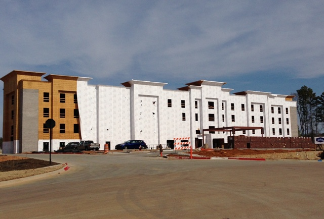 Photo of the new Hampton Inn & Suites under construction in Tyler, between Gander Mountain and the Village at Cumberland Park... opening in the Summer of 2015