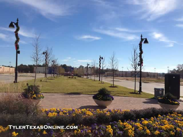 Looking east on the promenade at The Village at Cumberland Park, Tyler, Texas