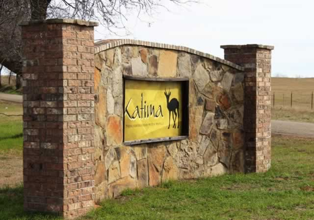 Entrance to the Katima community just south of Bullard, Texas, on U.S. Highway 69