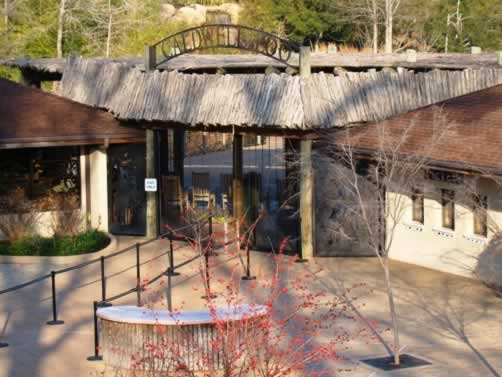 Entrance area at the Caldwell Zoo