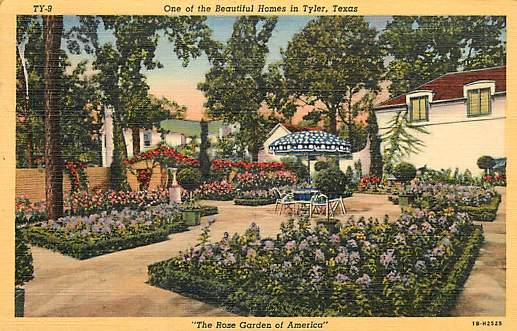 "One of the Beautiful Homes in Tyler, Texas, ""The Rose Garden of America"""