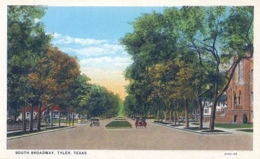 South Broadway Avenue, Tyler Texas, circa 1920s