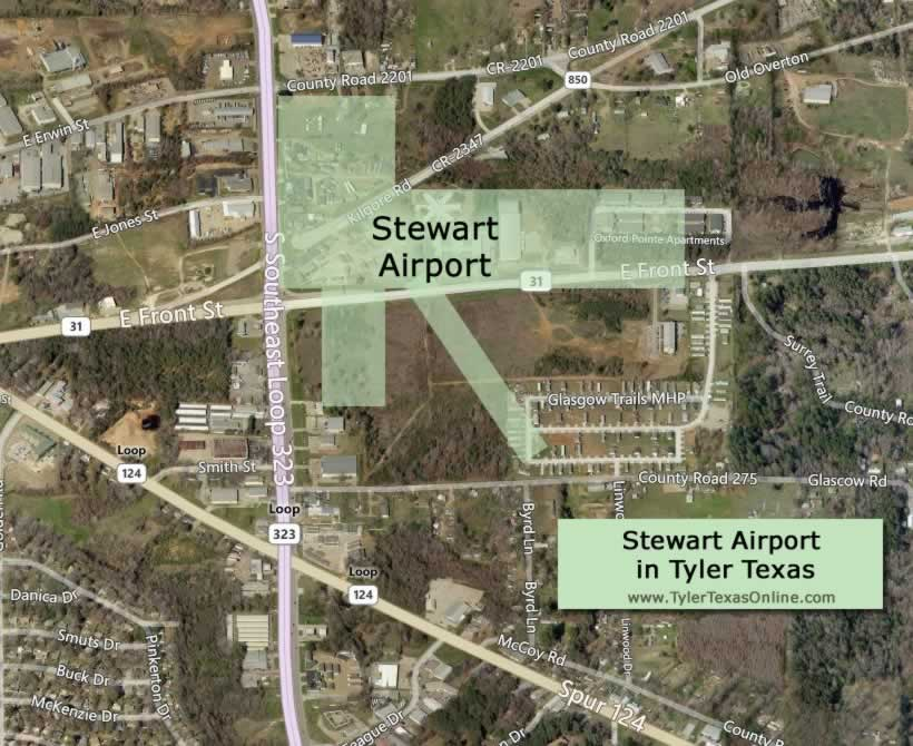 Stewart Airport in Tyler Texas