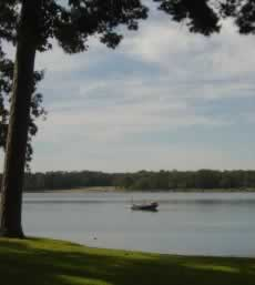 Quiet scene at Lake Tyler in Texas
