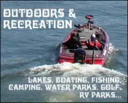 Tyler Outdoors, Recreation, Fishing, Camping, Golf, and RV Parks