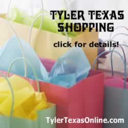 Tyler Texas shopping destinations and map ... click for deails