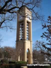 UT Tyler bell tower, Tyler, Texas