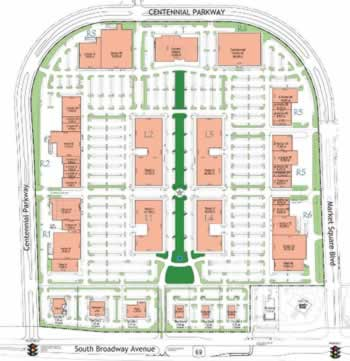 Map of stores at The Village at Cumberland Park, Tyler, Texas